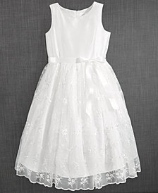 Blush by Us Angels Embroidered Communion Dress, Little Girls