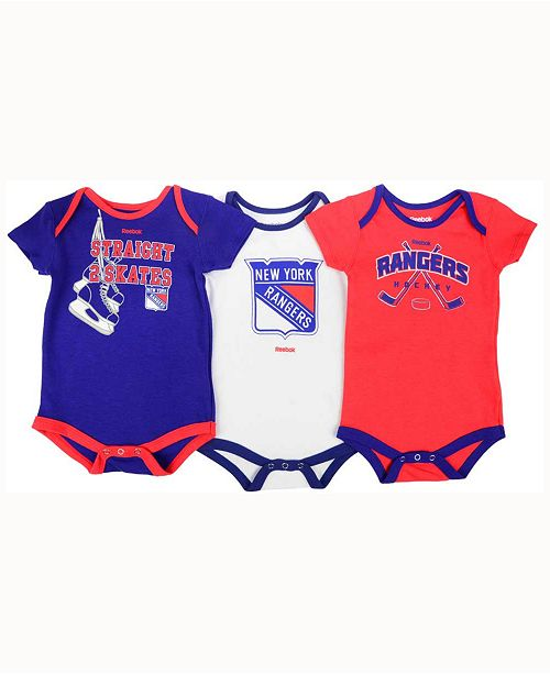 456d186715a adidas New York Rangers Hat Trick Creeper 3-Piece Set, Baby (0-24 ...