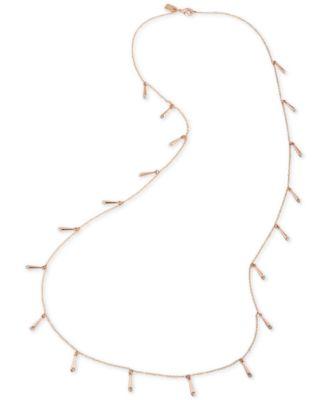 Lauren Ralph Lauren Rose GoldTone Crystal Shaky Stick Necklace