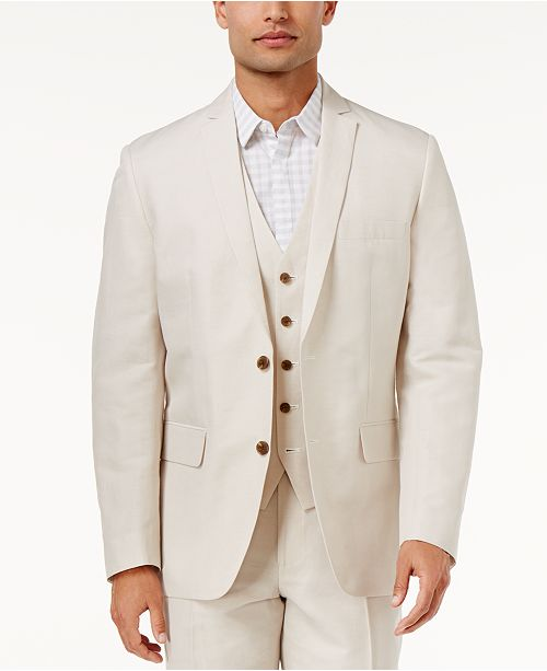 INC International Concepts I.N.C. Men's Linen Blend Blazer, Created for Macy's