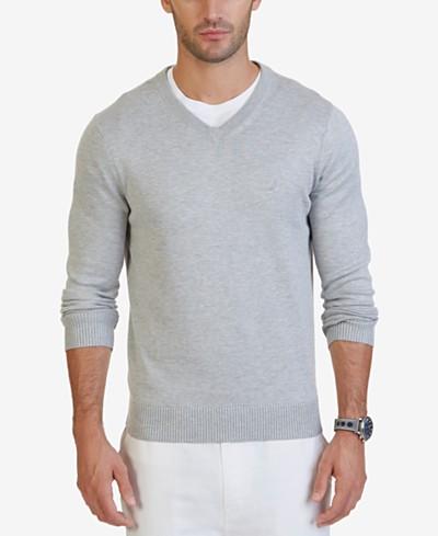 Nautica Men's V-Neck Classic Fit Sweater