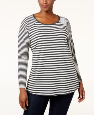 Calvin Klein Performance Plus Size Striped Top