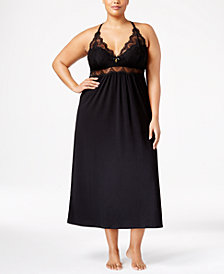 Thalia Sodi Plus Size Lacy Racerback Nightgown, Created for Macy's