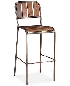 Reese Bar Stool with Backrest, Quick Ship