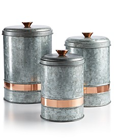 Two-Tone Galvanized Canisters Collection