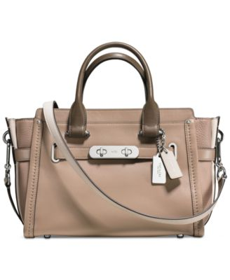 closest coach outlet store dvqm  COACH Swagger 27 in Colorblock Leather