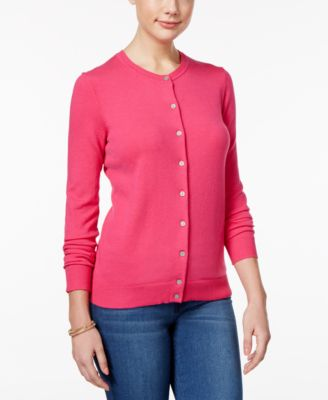 Image of Karen Scott Crew-Neck Cardigan, Only at Macy's