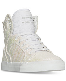 Supra Big Girls' Skytop Sequin High-Top Casual Sneakers from Finish Line