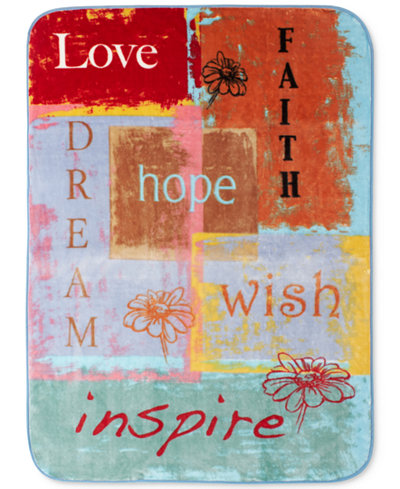 Shavel High Pile Oversized Throws Collection, Quotes & Inspirational Words