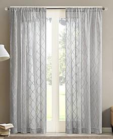 "Irina 50"" x 84"" Sheer Rod Pocket Curtain Panel"