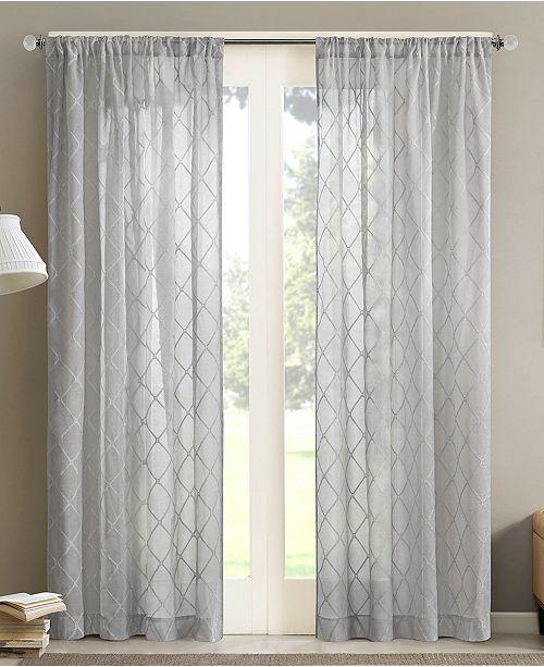"Madison Park Irina 50"" x 84"" Sheer Rod Pocket Curtain Panel"