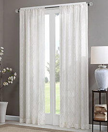 "Madison Park Irina 50"" x 95"" Sheer Rod Pocket Curtain Panel"