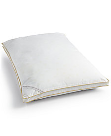 Calvin Klein Tossed Logo Print Medium Density Down Alternative Gusset King Pillow, Hypoallergenic