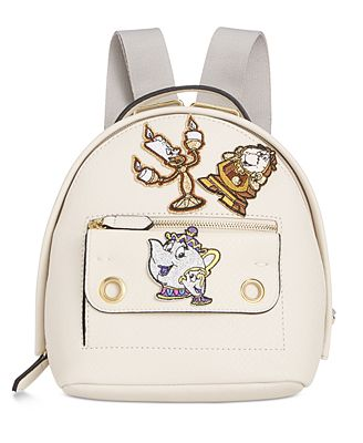 Disney By Danielle Nicole Mila Mini Beauty And The Beast Backpack with Patches