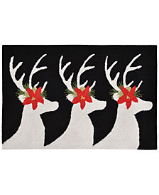 Liora Manne Front Porch Indoor/Outdoor Reindeer Black 2' x 3' Area Rug