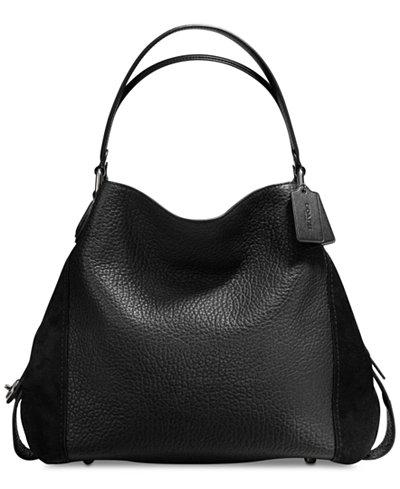 COACH Edie Shoulder Bag 42 in Mixed Leathers - Handbags ...