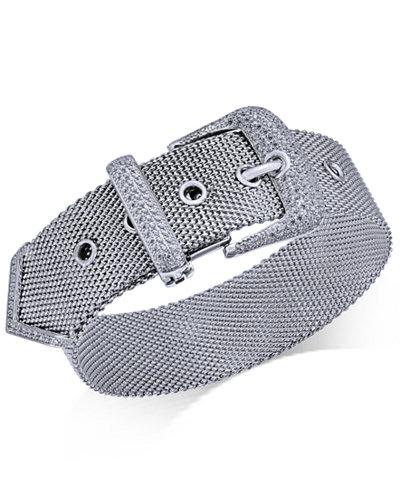 Diamond Buckle Bracelet (1-1/4 ct. t.w.) in Sterling Silver