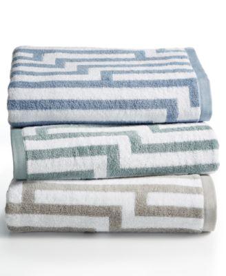 "Circuitry 30"" x 56"" Turkish Cotton Bath Towel, Created for Macy's"