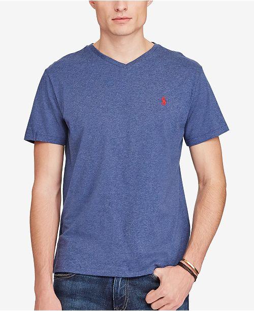 9e307001c3b4 Polo Ralph Lauren Men s Cotton Jersey V-Neck T-Shirt   Reviews - T ...