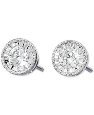 TruMiracle® Diamond Stud Earrings (3/4 ct. t.w.) in 14k White Gold