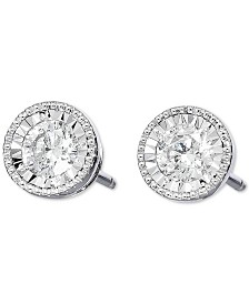 TruMiracle® Diamond Stud Earrings (1/2 to 3/4 ct. t.w.) in 14k White Gold