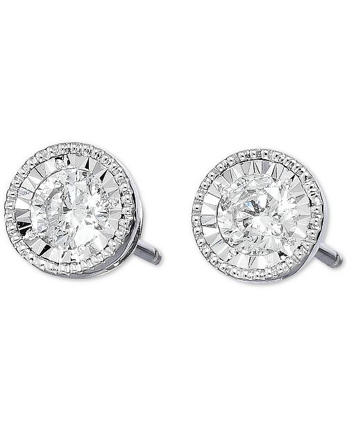 TruMiracle Diamond Stud Earrings (3/4 ct. t.w.) in 14k White Gold