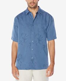 Cubavera Fl Jacquard Short Sleeve Shirt