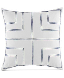 "CLOSEOUT! Tommy Hilfiger Quadrant 20"" Square Decorative Pillow"