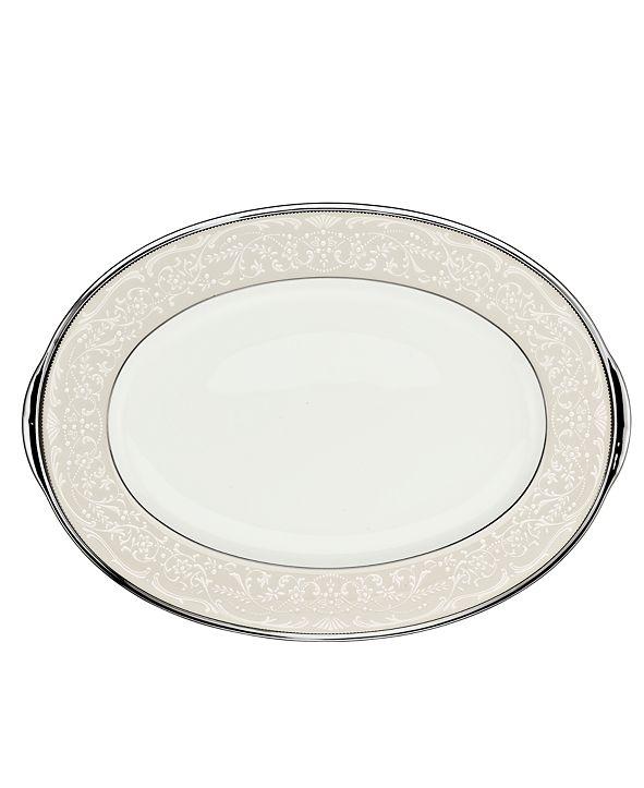 """Noritake """"Silver Palace"""" Small Oval Platter"""
