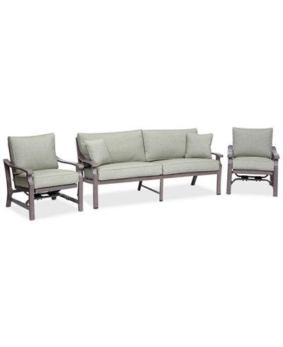 Cool Tara Aluminum Outdoor 3 Pc Seating Set 1 Sofa 2 Inside Rocker Chairs Andrewgaddart Wooden Chair Designs For Living Room Andrewgaddartcom