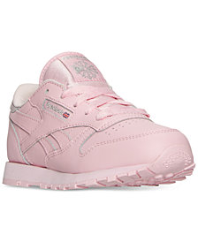 Reebok Little Girls' Classic Leather Casual Sneakers from Finish Line