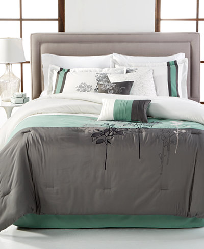 CLOSEOUT! Bisset 7-Piece Full Comforter Set