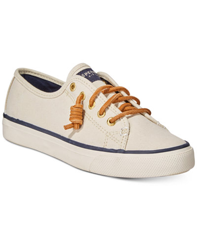 Sperry Women S Seacoast Canvas Sneakers Sneakers Shoes