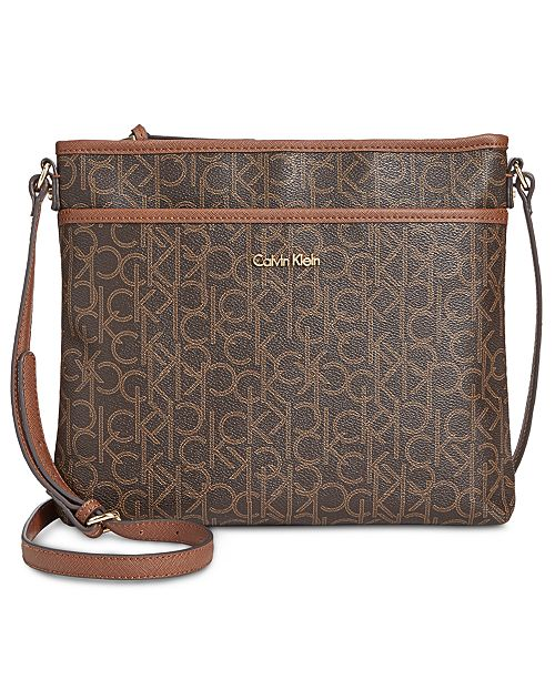 6f018ae581 Calvin Klein Monogram Crossbody   Reviews - Handbags   Accessories ...