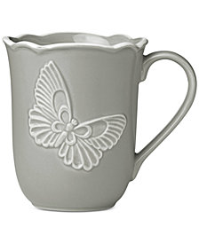 Lenox Butterfly Meadow Carved Collection Mug