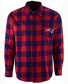 Men's New England Patriots Large Check Flannel Button Down Shirt