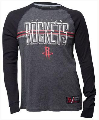 Unk Men's Houston Rockets Co-Captain Thermal Long Sleeve T-Shirt