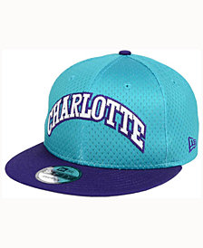 New Era Charlotte Hornets Hardwood Classics Tackle Trilled 9FIFTY Snapback Cap