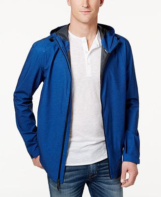 32 Degrees Men's Storm Tech Hooded Rain Jacket - Coats & Jackets ...