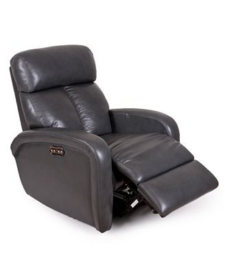 Criss Leather Power Recliner with Power Headrest Furniture Macys