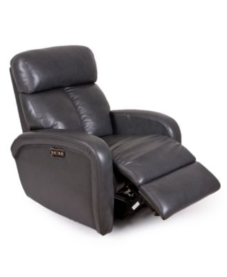 Delightful Criss Leather Power Recliner With Power Headrest And USB Power Outlet