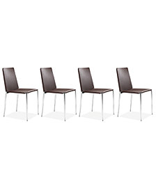 Luca Set of 4 Side Chairs, Quick Ship