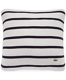 """Antibes Ribbed Knit Stripe 16"""" Square Decorative Pillow"""