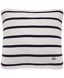 "Lacoste Home Antibes Ribbed Knit Stripe 16"" Square Decorative Pillow"