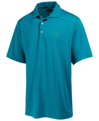 Image of Greg Norman for Tasso Elba Men's 5-Iron Striped Performance Polo, Only at Macy's