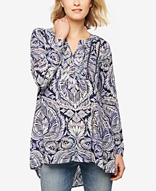A Pea In The Pod Maternity Printed Tunic