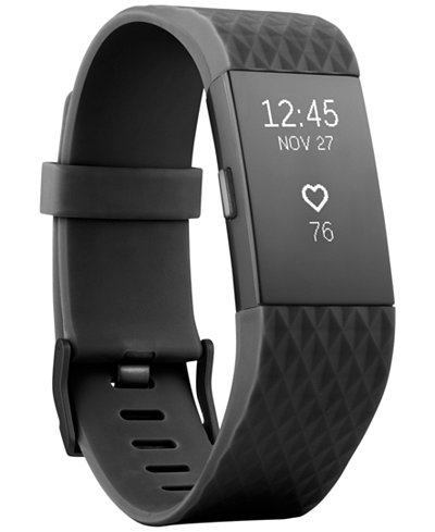Fitbit Unisex Charge 2 Black Strap Heart Rate + Fitness Wristband Small - Special Edition