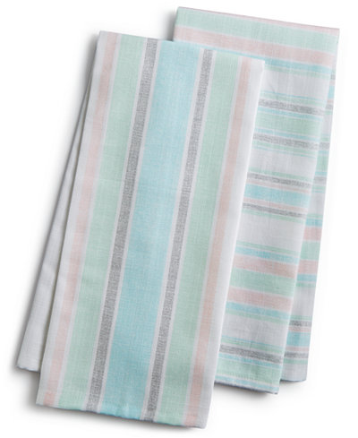 Martha Collection Pastel Striped Kitchen Towels Created For Macy S