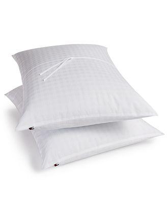 Tommy Hilfiger Home Windowpane Supraloft™ Down Alternative Pillows, 2-Pack