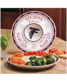 Memory Company Atlanta Falcons Ceramic Round Chip & Dip Plate